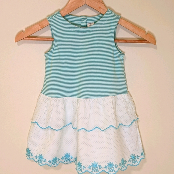 Baby Gap Eyelet and Striped Dress 3T